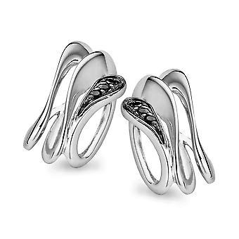 Orphelia srebro 925 czarny kolczyk & biały cyrkonu ZO-5016