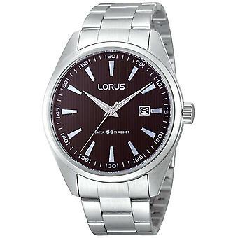 Lorus Men's Chunky Steel Black Dial Quartz RH999CX9 Watch