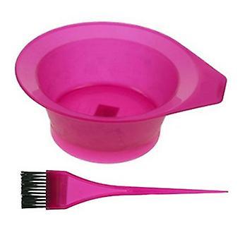 ESCOVA de tonalidade rosa + tigela
