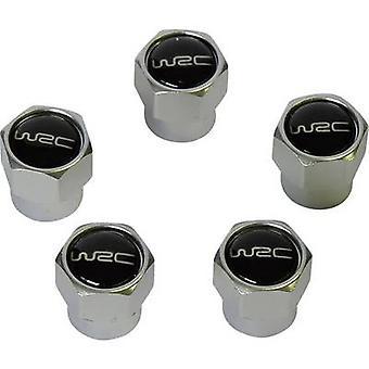 Unitec Valve dust cap 5-piece set Silver, Black