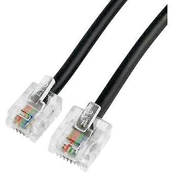 Hama ISDN -kaapeli [1x RJ45 8p4c -pistoke - 1x RJ11 6p4c-pistoke] 6,00 m Musta