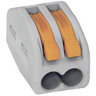 WAGO 222-412 Connector clip flexible: 0.08-4 mm² rigid: 0.08-2.5 mm² Number of pins: 2 50 pc(s) Grey, Orange
