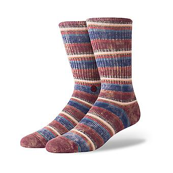 Stance Sarthe Crew Socks in Maroon