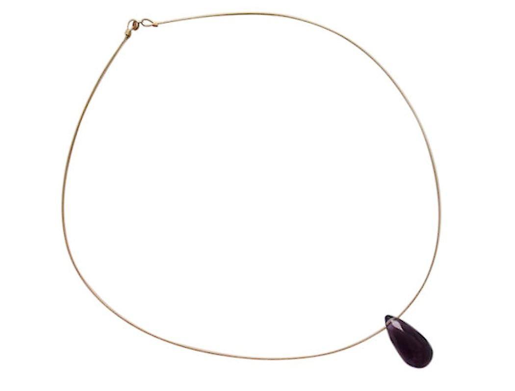 Gemütlich Fantastisk pris Gemshine Damen Halskette Vergoldet Amethyst Tropfen Facettiert Violett wAa33