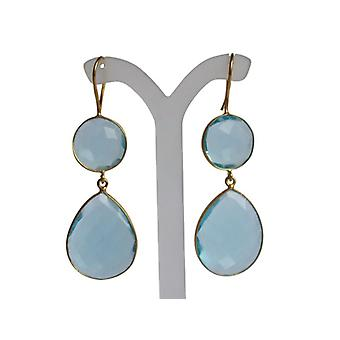 Blue Topaz Earrings Blautopaz blue Topas earrings 925 silver plated