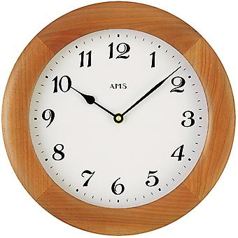 Quartz wall clock quartz wall clock painted wall clock solid wood frame cherry colors