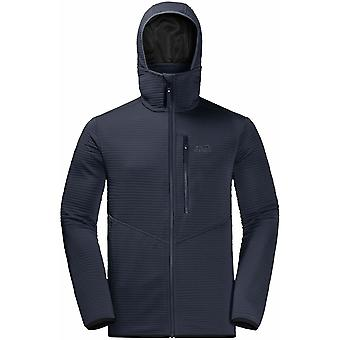 Jack Wolfskin Mens Modesto Hooded Jacket - Small - Blue