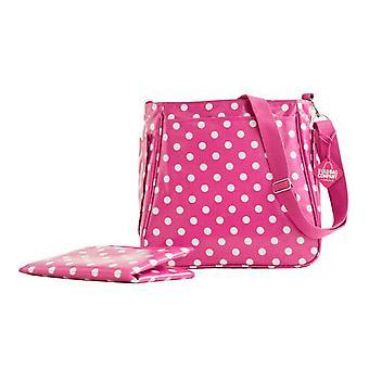 La vecchia borsa azienda Emma Baby Bag di Sally Hurst rosa