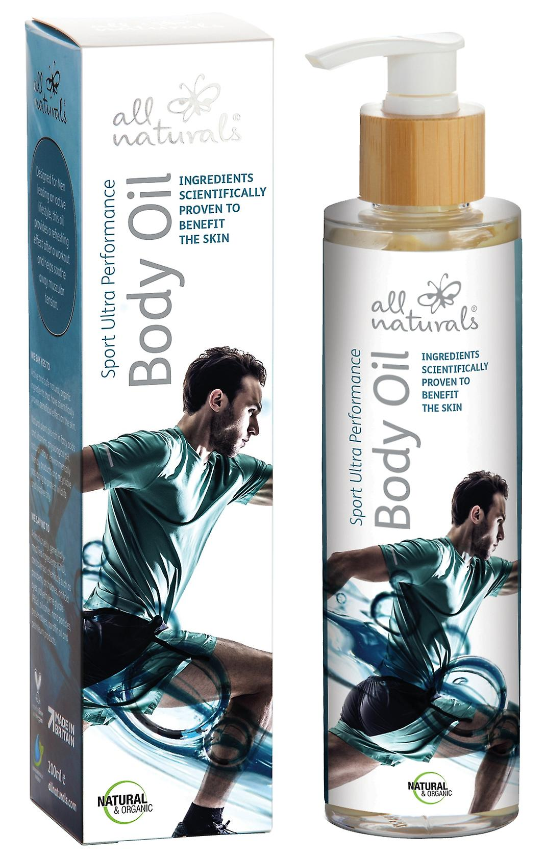 Sport Ultra Performance. Organic Muscle Recovery Body Oil. 200ml