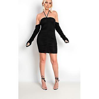 IKRUSH Womens Isla Ruched Choker van Bodycon jurk