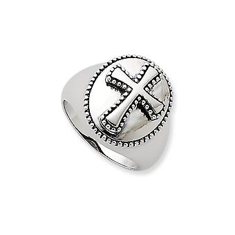 925 Sterling Silver Polished Gift Boxed Rhodium plated finish Boldness Ring Jewelry Gifts for Women - Ring Size: 9 to 11
