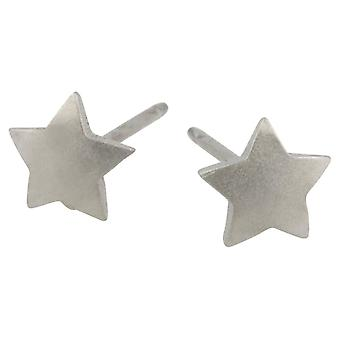 Ti2 Titanium Geometric Star Stud Earrings - Natural