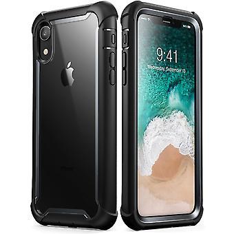 iPhone XR asia [Ares] koko kehon karu puskurin selvästä sisäänrakennettu Screen Protector (2018 Release)(Black)