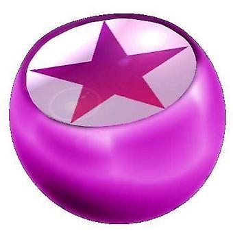 Piercing ersättare boll rosa, piercingsmycken, Star | 1,6 x 5 och 6 mm