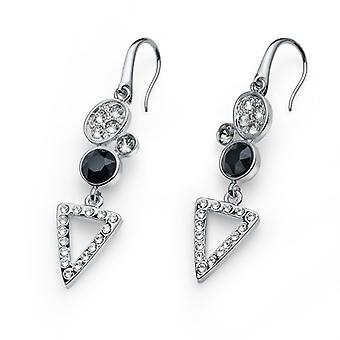 Oliver Weber Earring Send Rhodium, Black