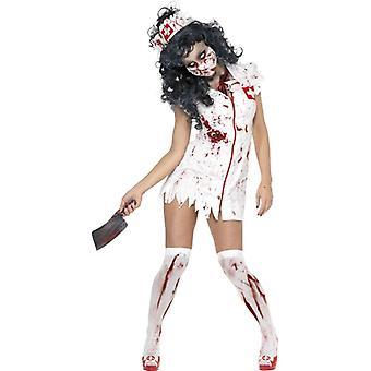 Zombie Krankenschwester Kostüm, UK Kleid 4-6