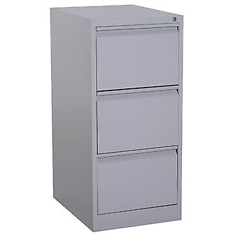 Vinsetto 3 Drawers Vertical Filing Cabinet Steel Storage Shelf Lockable w/ Keys Office Organisation Grey