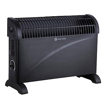 2kW Convector Heater Black