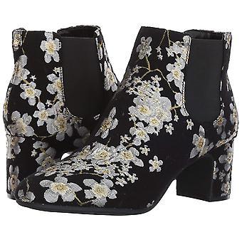 Anne Klein Womens Gorgia Fabric Square Toe Ankle Fashion Boots