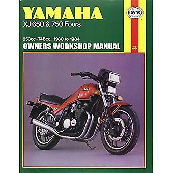 Manuel d'atelier Yamaha XJ650 guide d'utilisation et 750 Fours 1980-84 (moto manuels)