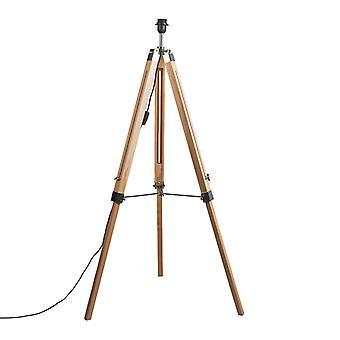 Legno di lampada da terra rurale QA-QA senza ombra - Treppiede