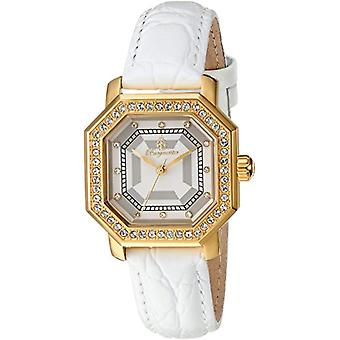 Burgmeister-ladies ' quartz watches with analog Display, color: gray and white bracelet, leather 168-286 BM
