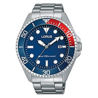 Lorus Watches Unisex analogue watch with metal plated stainless steel RH941GX9