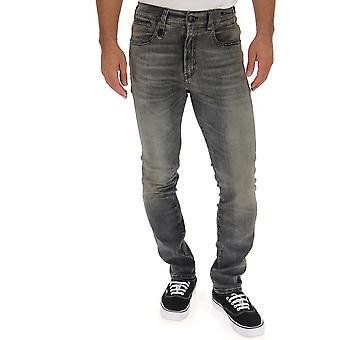 R13 N0199943 Men's Grey Cotton Jeans