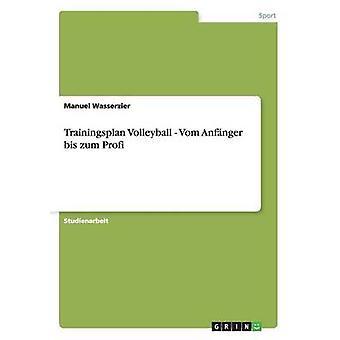 Trainingsplan volleyboll. Vom Anfnger BIS Zum Profi av Wasserzier & Manuel