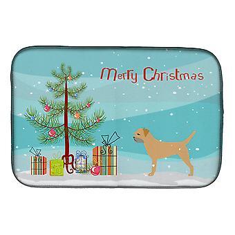 Border Terrier Merry Christmas Tree parabolen tørking mat