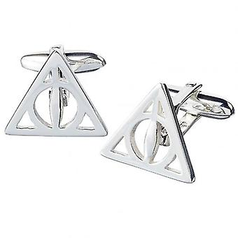 Harry Potter Silver Plated Cufflinks Reliques de la Mort