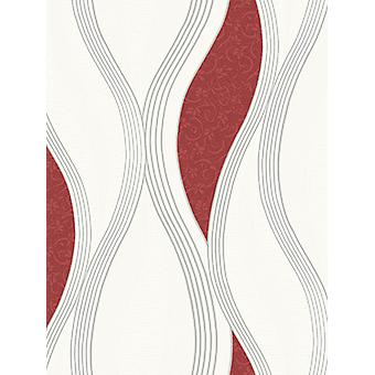 Wave Embossed Textured Wallpaper Red Direct Wallpapers E62010