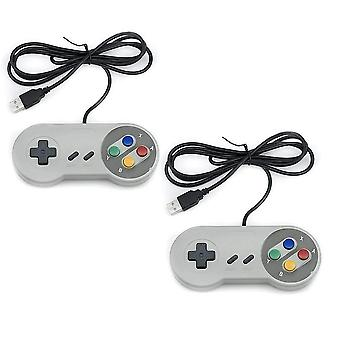 TRIXES pakke med 2 SNES kontrollere-USB retro gaming Joypads for PC datamaskin MAC Raspberry PI Wii U