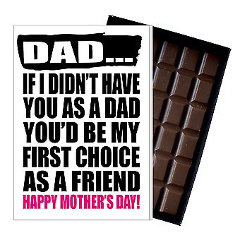 Funny Father's Day Gift Silly Chocolate Present Rude Card For Dad DADIYF114