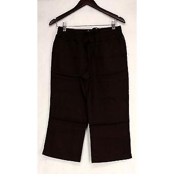Motto Basic Pull On Capri Length w/ Pockets Brown Pants A214502