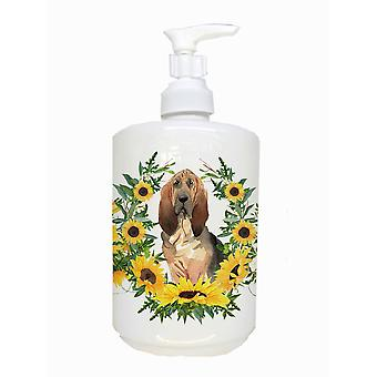 Carolines Treasures  CK2985SOAP Bloodhound Ceramic Soap Dispenser