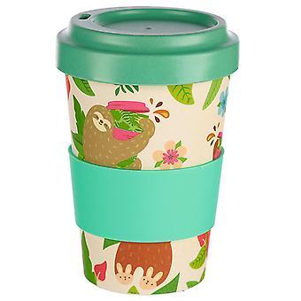Sloth Travel Mug Just Hanging Around crème, imprimé, 60% fibre de bambou, 35% mélamine, 5% amidon de maïs, silicone,