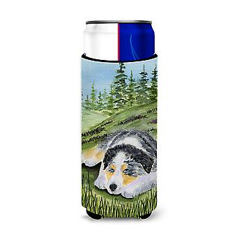 Aisladores de bebida Ultra de Pastor Australiano para latas de slim SS8283MUK
