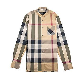 Burberry Thornaby A maniche lunghe Camicia Cammello