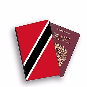 TRINIDAD AND TABAGO Flag Passport Holder Style Case Cover Protective Wallet Flags design