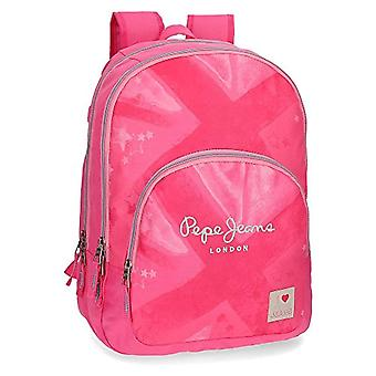 Pepe Jeans Clea Pink Double Compartment Adaptable Backpack