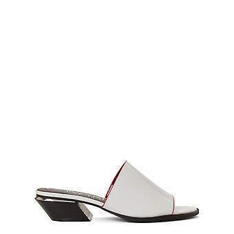 Calvin Klein Damen Narissa Leder Open Toe Casual Slide Sandalen