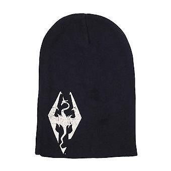 Skyrim Beanie Hat Emblem logo Slouch new Official Black