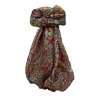 Maulbeere Seide traditionelle Quadratische Schal Venaji Kastanie von Pashmina & Seide