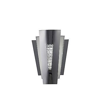 Diyas Vega Wall Lamp 2 Light Stainless Steel/Crystal
