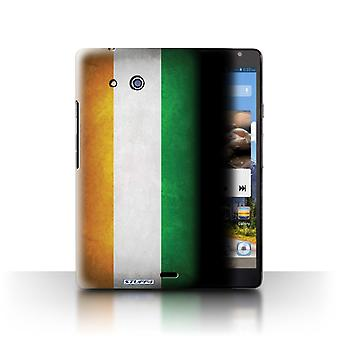 STUFF4 Case/Cover voor Huawei Ascend Mate/Ivory Coast/vlaggen