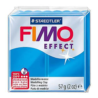 Fimo Effect Modelling Clay, Transparent Blue, 57 g