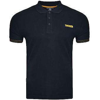Lambretta Mens Jaquard Pique Short Sleeve Casual Cotton Polo Shirt