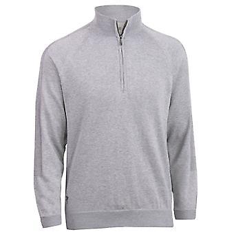 Ashworth Mens Golf Pima Half Zip Sweater Pullover Jumper Top - Pebble