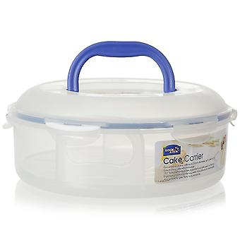 Lock & Lock 5.5 Litre Round Food Container With Cake Tray And Carrying Handle